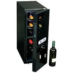 Koolatron WC12DZ Koolatron 12 Bottle Dual Zone Wine Cellar, Black/Silver