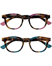 Opulize Ava 2 Stuks Bruine Schildpad Roze Turquoise Afstand Bril Kortzichtig Bijziendheid Vrouwen Dames MM62