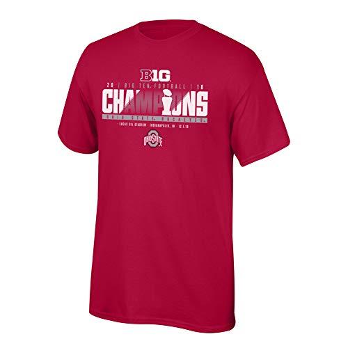 (Elite Fan Shop Ohio State Buckeyes Big 10 Champs Tshirt 2018 Locker Room - XL - Red)
