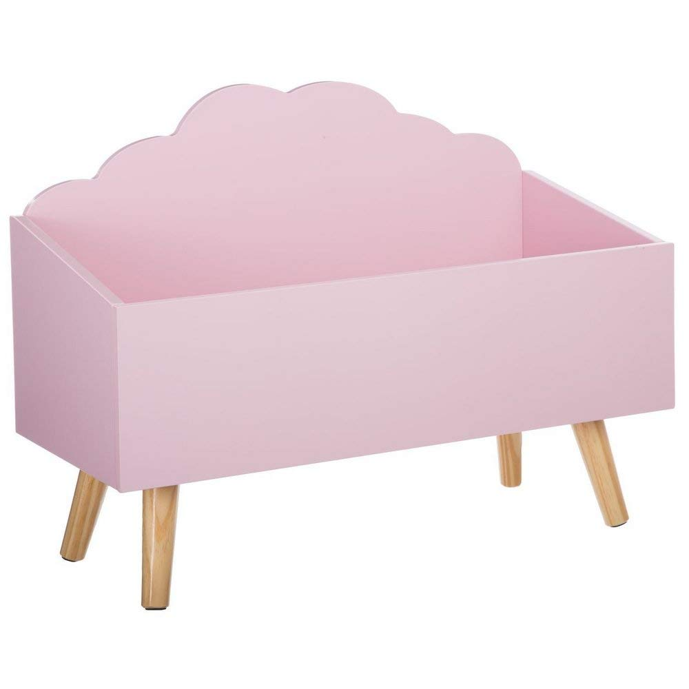 Baule per giocattoli - A forma di nuvola - Colore: ROSA ATMOSPHERA