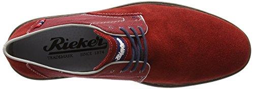 Rieker B1402 - zapatos con cordones de cuero hombre Rojo - Red (Mohn/Mohn)
