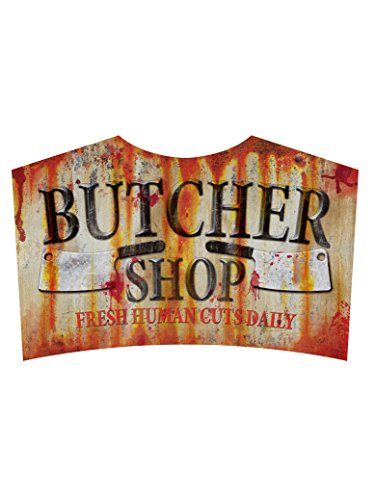 Butcher Shop Sign Metal Halloween Zombie Apacolypse Decoration Horror -
