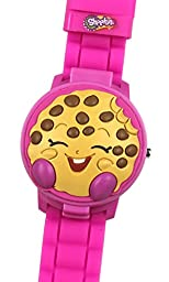 Shopkins Girl\'s 3D Pink Digital Watch with Pop-Up Feature KIN4028