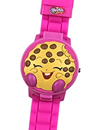 Shopkins Girl's 3D Pink Digital Watch with Pop-Up Feature KIN4028