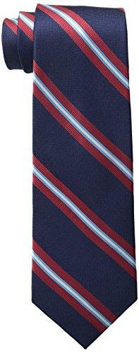 Tommy Hilfiger Men's Oxford Ribb Stripe Tie, Navy, One Size