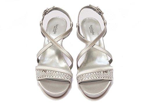 Donna Nero Giardini sandali da in rasocamoscio col. tacco cm.plateau cm. num.