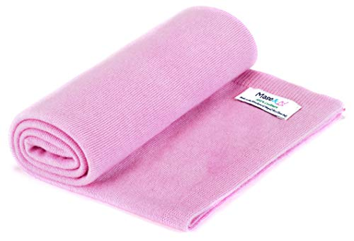100% Pashmina Cashmere Handmade Baby Blanket by Mase & Lil (Pink) (Baby Pink Cashmere)