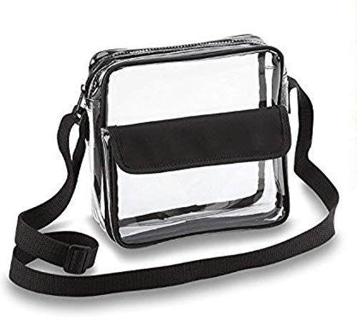 Football Purse - Clear Crossbody Messenger Shoulder Bag with Adjustable Strap NFL Stadium Approved Transparent Purse