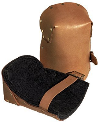 Leather Pro Knee Pads, Strap/Buckle, -