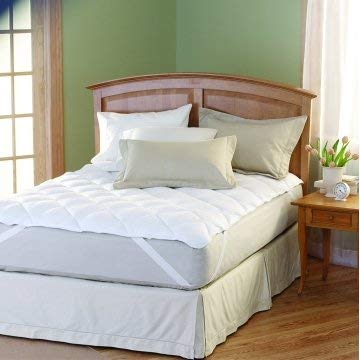 Restful Nights-762192 Restful Nights Mattress Topper Anchor Bands 60X80 Queen 24 Ounce Case of 2