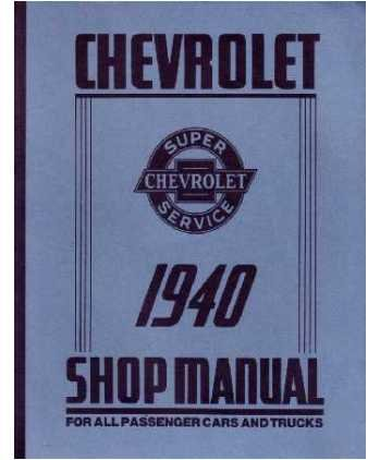 1940 Chevrolet Car Truck Shop Service Repair Manual Book Engine Electrical