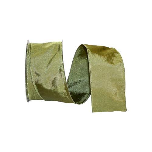 Reliant Ribbon 97895W-577-40J Katy May 2 Wired Edge Ribbon, 2-1/2 Inch X 25 Yards, Sage (Katy Mays)