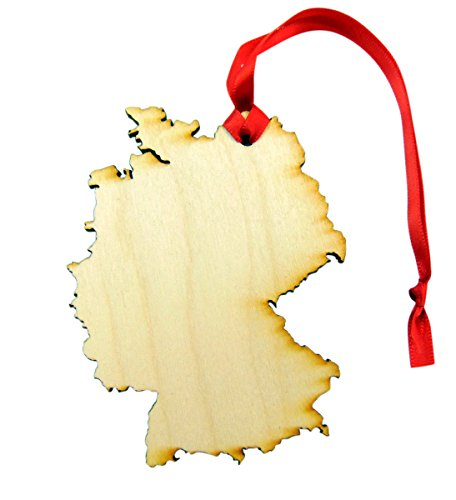 Germany Wooden Country Christmas Ornament Boxed Decoration Handmade in the U.S.A. (Germany Christmas Ornament)