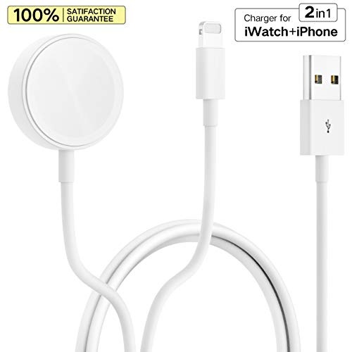 Smart Watch Charger New USB Wireless Magnetic Charging Cord Charger Pad Perfect for Apple Watch Series 4/3/2/1 All 38mm/40mm/42mm/44mm