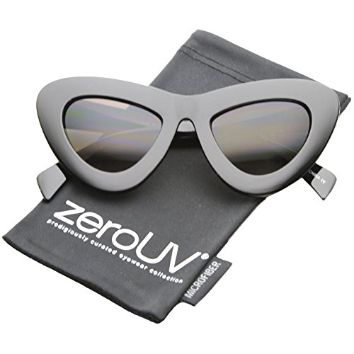 zeroUV - Womens Bold Chunky Frame Gradient Lens Oversize Cat Eye Sunglasses 50mm (Shiny-Black / - Spektre Sunglasses