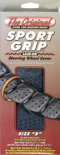 (Superior 58-0550L Sport Grip Steering Wheel Cover, Size