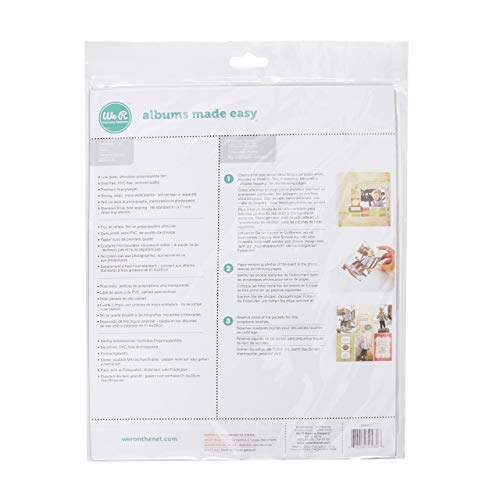 8.5 x 11-inch 3-Ring Album Page Protectors by We R Memory Keepers | 10 pack -