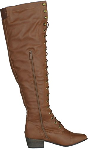 Breckelle's Women's Alabama-12 Knee High Riding Boots - stylishcombatboots.com