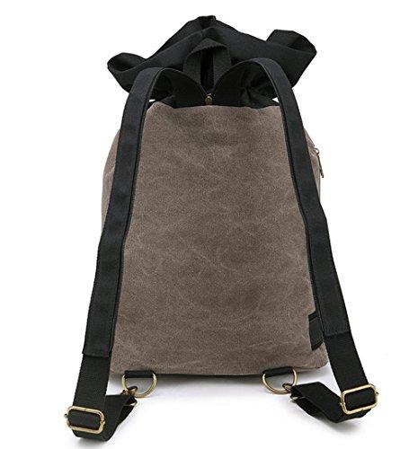 Xiuxiandianju Lässige Leinwand Schulter Herren Rucksack Tasche-schwarz