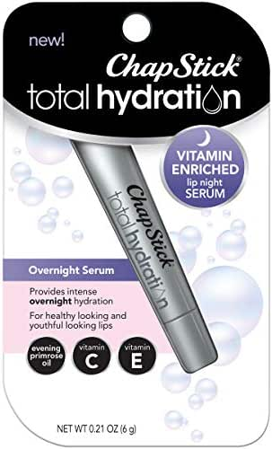 Lip Balm & Chapstick: ChapStick Total Hydration Vitamin Enriched Lip Night Serum