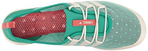 Nucleo Di Scarpe Acqua Elegante Adidas Donne Allaperto Terrex Climacool Barca Verde / Gesso Bianco / Rosa Tattili