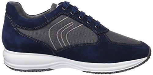 Geox U Happy Art. G, Sneakers Basses Homme Bleu (Blue/Dk Grey)