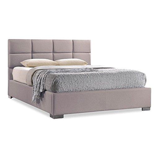 Modern Beige Linen - Baxton Studio Sophie Modern & Contemporary Linen Upholstered Platform Bed, Queen, Beige