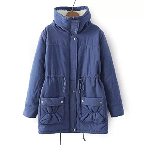 2 Jacket Aderente Slim Colletto Fit Puffer long size Women Plus Risvoltato Down Mid Rkbaoye wZHOn