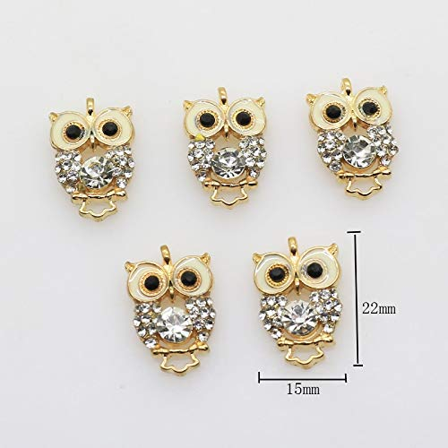 - Mercury_Group, Sewing Buttons - 10Pcs/Lot 1522MM Alloy Owl Buttons Decoration Pendant Jewelry Accessory faceplate Wholesal Gold Button