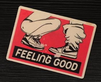 "2pcs Feeling good Biker BJ Blow me Hat Sticker / Decal / Label Tool Lunch Box Helmet Funny Flag /Bumper / Truck / Sticker / Decal 2.5"""