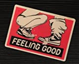 2pcs Feeling good Biker BJ Blow me Hat Sticker / Decal / Label Tool Lunch Box Helmet Funny Flag /Bumper / Truck / Sticker / Decal 2.5""