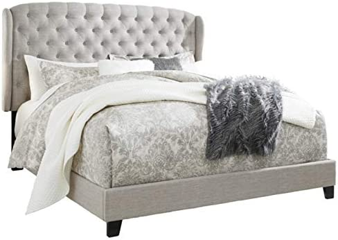 Signature Design By Ashley Jerary King Upholstered Tufted Wingback Bed Frame, Gray 4159Y 9 2BJ3L