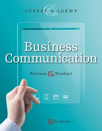 Business Communication: Process and Product (with Student Premium Website Printed Access Card) (MindTap Course List)