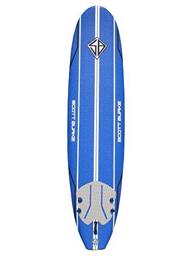 SCOTT Burke 8′ Soft Surfboard Package, Blue