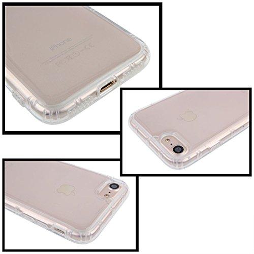 Hülle für iPhone 8 / iPhone 7 Anti Gravity Case selbstklebende Nano-Technologie Adsorption und starke Haftung an glatten Oberflächen Silikon TPU Schutzhülle ultra klar transparent von wortek