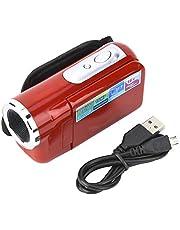 Regun Digitale videocamera camcorder - draagbare kinderen kinderen 16X HD digitale videocamera camcorder met TFT LCD-scherm (rood)