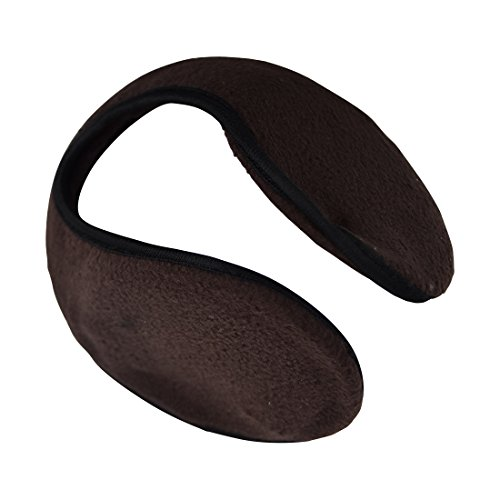 Motique Accessories Fleece Solid Ear Muffs for Kids - Brown (Toddler Boys Earmuffs For)