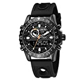 Big Face Military Tactical Watch for Men, Black Mens Outdoor Sport...