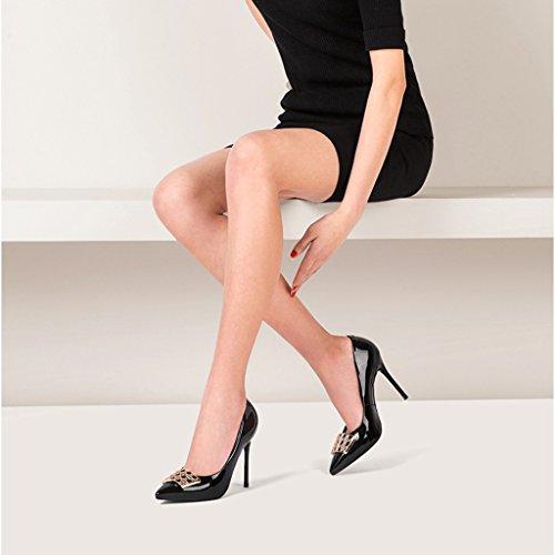 DE Fins Talons times Hyun Chaussures cm 10 Chaussures Boucles pour Noir Femmes Avec Talons à 5 Hauts Latérales RqSwfxIq