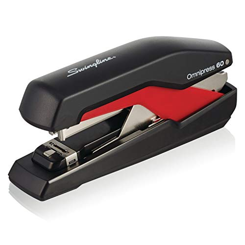 Forms Single Esselte Page (Swingline Stapler, Omnipress 60, 60 Sheet Capacity, Black/Red (5000591A))