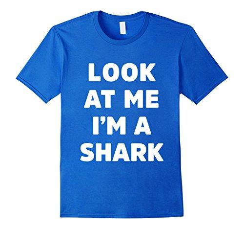 Mens Shark Costume Shirt for Halloween Kids Men Women XL Royal Blue