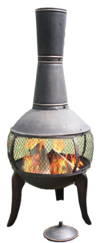 Deeco Consumer Products Tuscan Glo Cast Iron Chiminea by Deeco Consumer Products