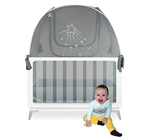 Aussie Cot Net Baby Crib Safety Tents – Premium Crib Tent to Keep Baby from Climbing Out – See-Through Crib Netting…
