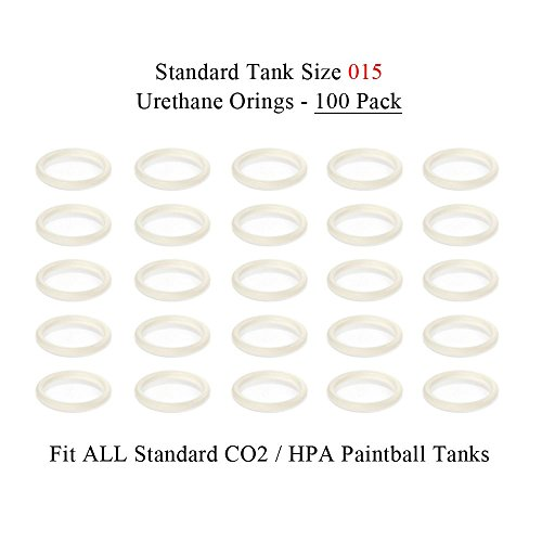(MAddog Paintball Heavy Duty Urethane Tank Replacement O-Rings (100 Pack) -)