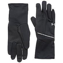 Under Armour Women's Coldgear Infrared Run Liner Gloves, Black/Silver, Medium