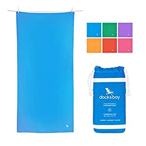 (Niagara Blue, Small (100x50cm)) - Microfibre Towel & Travel Pouch - Quick Dry, Lightweight, Compact (Extra Large 200x90cm, Large 160x80cm) for travel, yoga, gym, sports, camping - Classic collection - As Seen On Dragons' Den