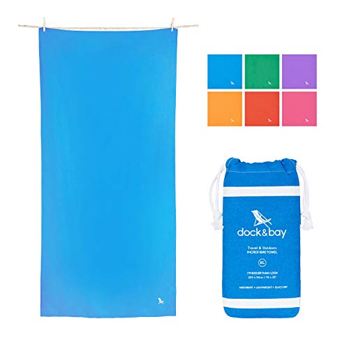 - Dock & Bay XL Microfibre Towel for Travel - Niagara Blue, 78 x 35 - Beach, Travel & Yoga - for Camping & Travel, Gym & Yoga, Beach & Boat
