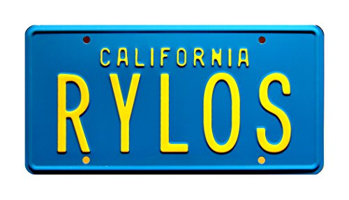 - Celebrity Machines The Last Starfighter | RYLOS | Metal Stamped License Plate