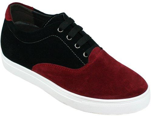 Estatura 6 G99142 Para Los Elevador 6 De negro Cm Burdeos Calto Zapatos Cordones Y Del La Alto Incrementar U1dOWd
