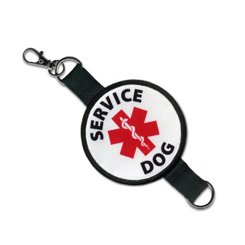 - SERVICE DOG Medical Alert Symbol 2 in 1 Double Sided Patch Clip Leash Wrap